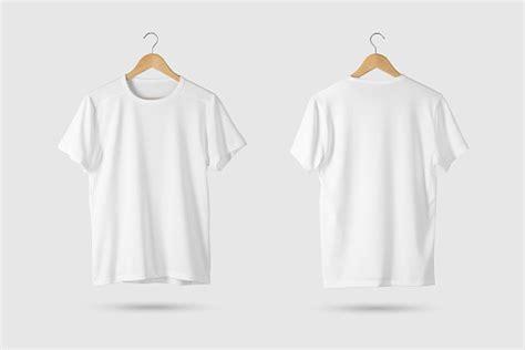 blank white tshirt mockup  wooden hanger front  rear