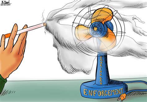 Editorial Cartoon Smoking Ban Enforcement Daily Bruin