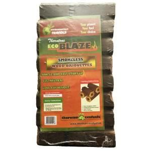 heat logs 12 pack eco blaze smokeless wood briquettes 12 pack