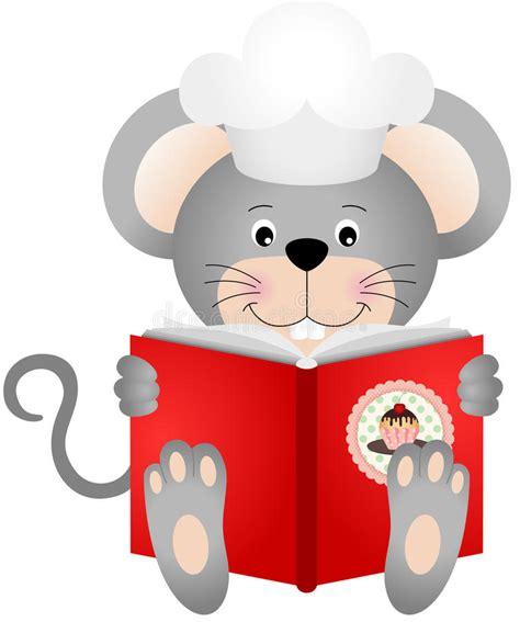 souris cuisine souris lisant un livre de cuisine illustration de vecteur