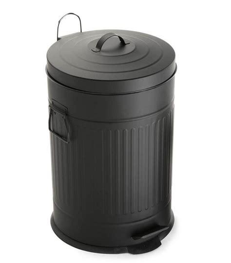 cuisine poubelle poubelle de cuisine rétro en métal noir 20l wadiga com