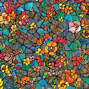 Venetian Garden Self-Adhesive Stained Glass Window Film