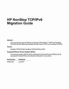 Tcp  Ipv6 Migration Guide
