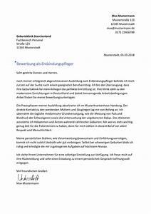Bewerbung Zur Ausbildung : bewerbung als hebamme entbindungspfleger bewerbungsmuster ~ Eleganceandgraceweddings.com Haus und Dekorationen