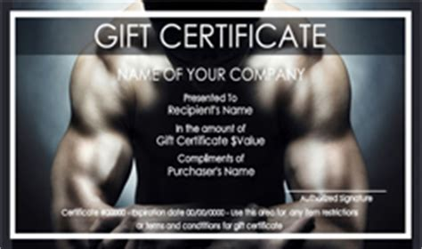 sports  fitness gift certificate templates easy