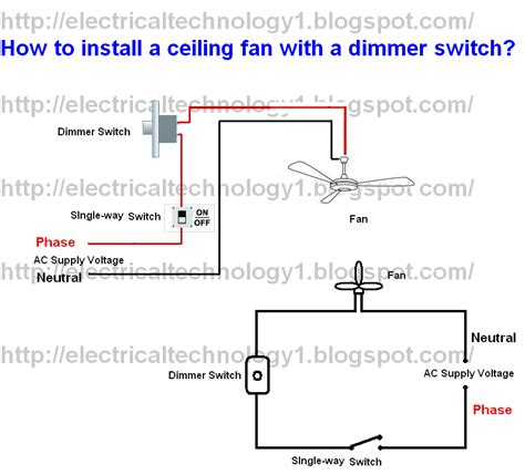 How Install Ceiling Fan With Dimmer Switch Part