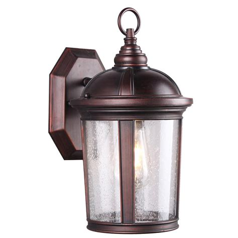 dsi 1 light bronze seeded glass outdoor wall lantern