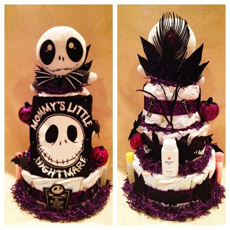 Nightmare Before Christmas Crib Bedding by 3 Tier Nightmare Before Christmas Diaper Cake