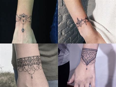 tatuajes de brazaletes  mujer  disenos delicados
