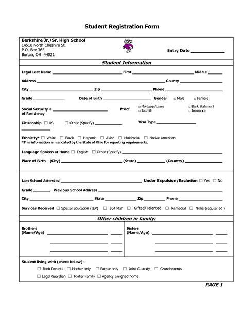 28 enrollment application template ideas collection