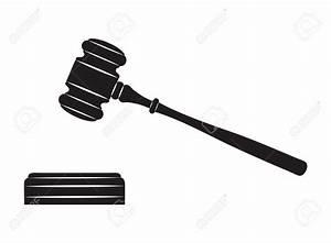 Judges Gavel Black And White Clipart
