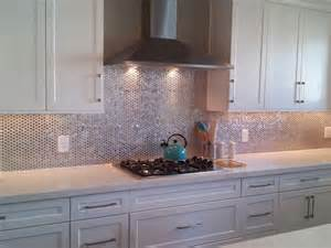 metallic kitchen backsplash the metallic backsplash metal backsplash