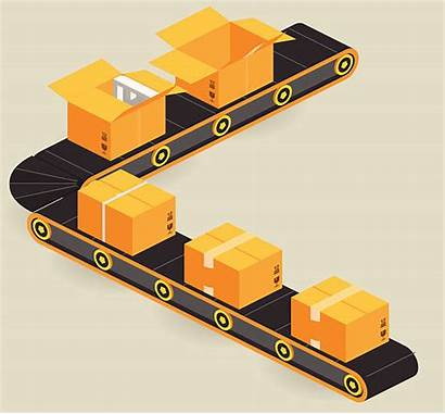 Line Production Conveyor Packaging Vector Belt Clip