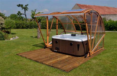 Deck Around Intex Pool by Klasik Spa Tub Enclosure Cover
