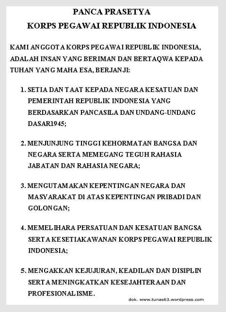 not angka lagu lir ilir kode etik korpri panca prasetya korp pegawai republik indonesia tunas63