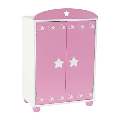 Buy Armoire Closet by 18 Inch Doll Furniture Pink Armoire Closet With