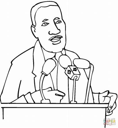 Luther Martin King Coloring Pages Printable Jr