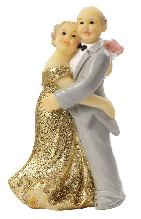 brautpaar goldene diamantene eiserne hochzeit tortenfigur