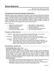 information technology resume layouts exles of hyperbole resume exle it security careerperfect com