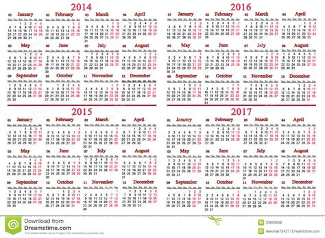usual calendar    years stock illustration