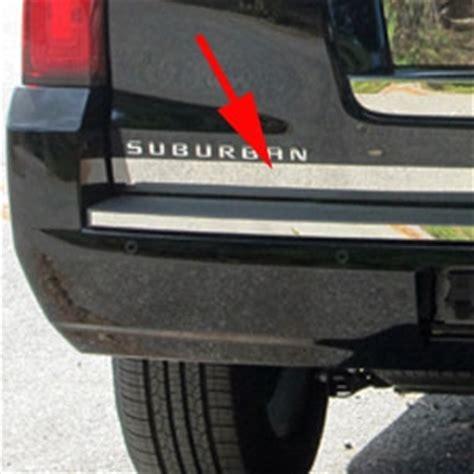 chevrolet suburban chrome tailgate trim