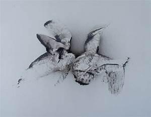 Peinture En Noir Et Blanc : envol peinture abstraite noir et blanc minimalisme peinture abstraite en noir et blanc ~ Melissatoandfro.com Idées de Décoration