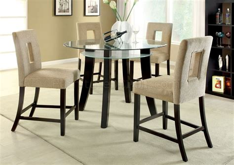 cmpt grandam ii pc counter height dinette set wglass top