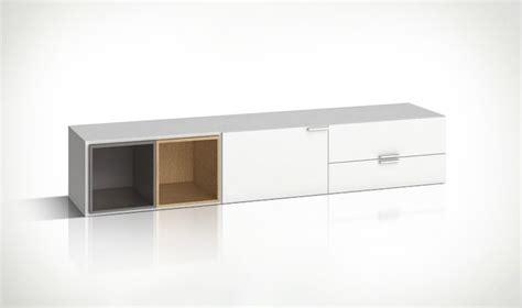 bureau sur roulettes meuble tv blanc design en bois 2 portes et 2 tiroirs