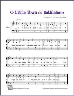 town  bethlehem  images easy piano