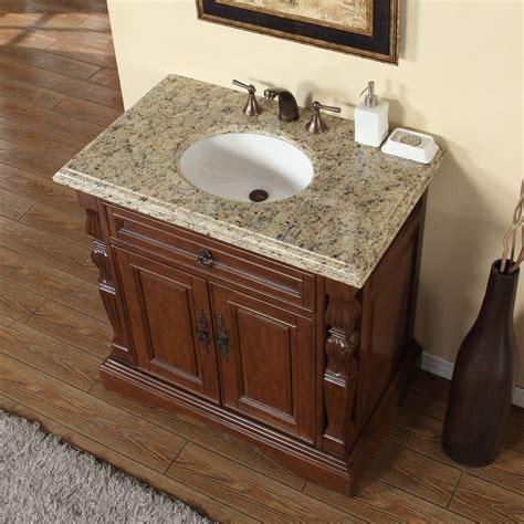 sink vanity top granite accord 36 inch single sink bathroom vanity venetian
