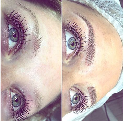 microblading microstroke feathering feather touch eyebrow
