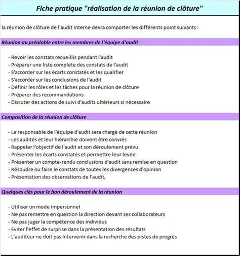 modèle procédure de travail guide des bonnes pratiques de l audit interne