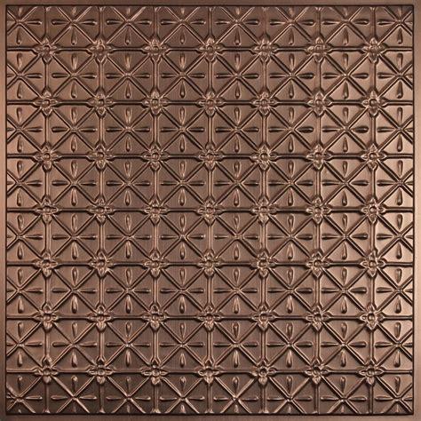 ceilume ceiling tiles home depot ceilume continental faux bronze ceiling tile 2 x 2