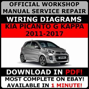 Official Workshop Repair Manual For Kia Picanto G Kappa