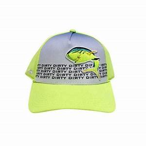Snap Back Neon Yellow Sublimated Hat w Dolphin 139