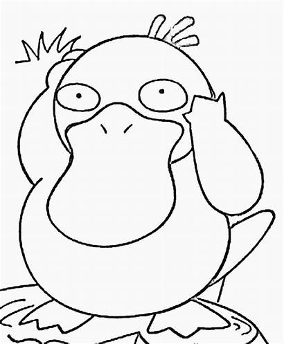 Coloring Pokemon Characters Pages Printable Water Duck