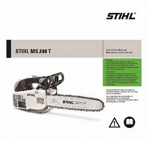 Stihl Ms 200t Chainsaw Owners Manual