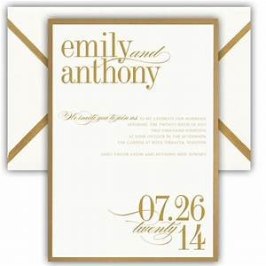 gold bordered card wedding invitations paperstyle With wedding invitations gold font