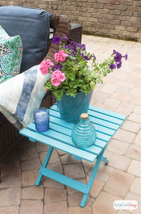 turquoise patio furniture chicpeastudio