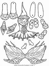 Puppet Coloring Fairy Paper Crafts Elf Puppets Dolls Pheemcfaddell Halloween Cut Fern Feather Printable Adult Template Fairies Outs Clipart Printables sketch template