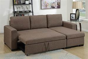 Brown fabric sectional sofa bed steal a sofa furniture for Sectional sofa bed hamilton