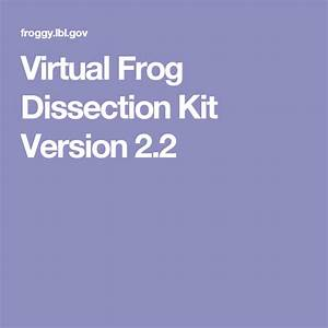 Virtual Frog Dissection Kit Version 2 2