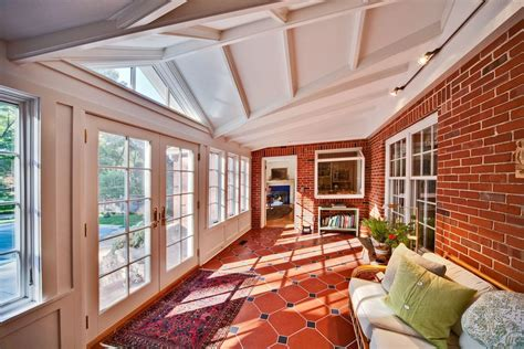 lovely enclosed patio rooms sunroom traditional  brick