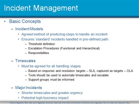 itil  incident management toolkit