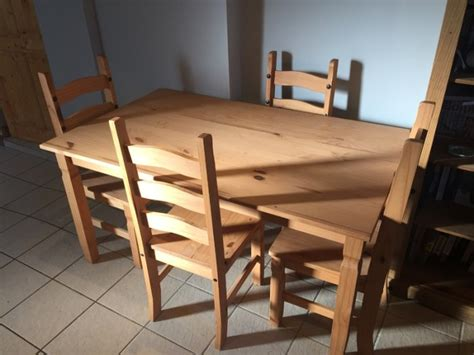 solid wood kitchen table  chairs  sale  killucan