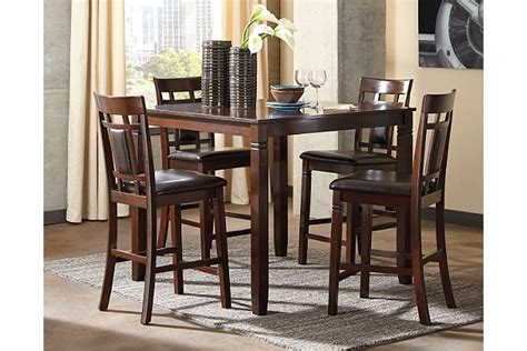 bennox counter height dining room table  bar stools