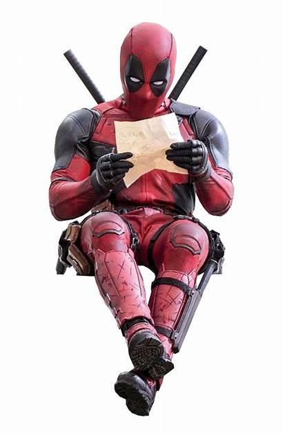Deadpool Transparent Clipart Reading Sitting Marvel Asthonx1
