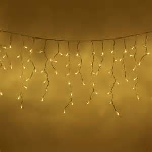 16 metres 800 true warm white led icicle lights lights4fun co uk