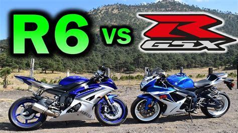 Yamaha Suzuki Of by Yamaha R6 Vs Suzuki Gsx R 600 Cual Es Mejor Moto