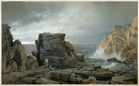 william trost richards  rocky coast american  met